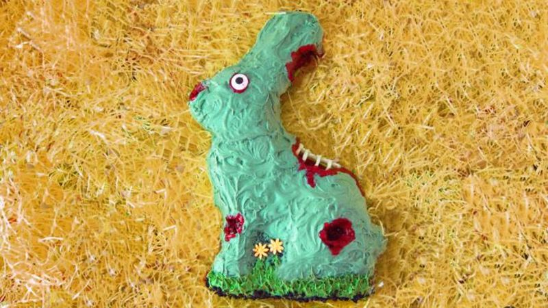 Zombie Easter Bunny Cake
