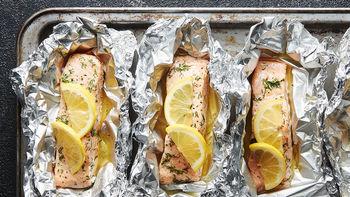 Lemon-Herb Salmon Foil Packs