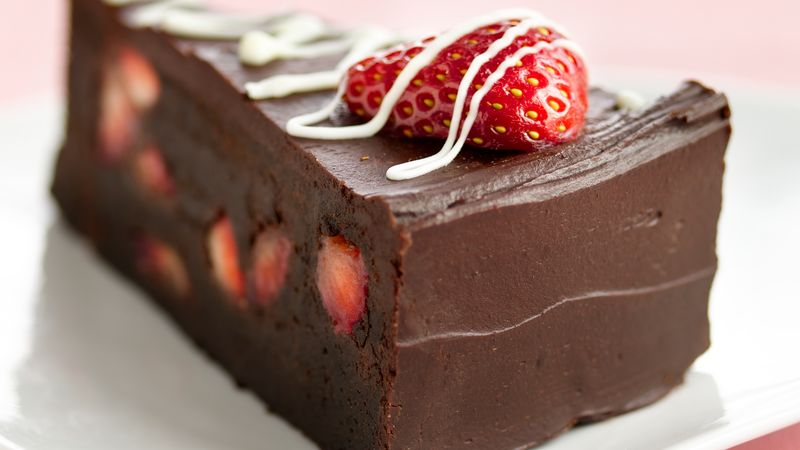 Cake With Chocolate Ganache And Strawberry Filling : Fudge Lover s Strawberry Truffle Cake recipe from Betty ...