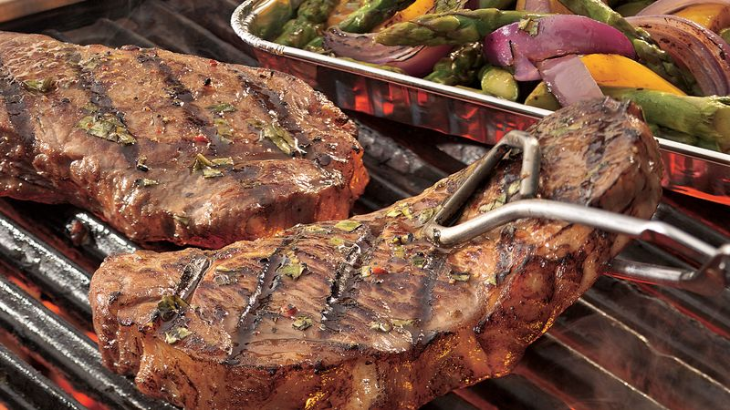 Grilled Italian Steak and Vegetables