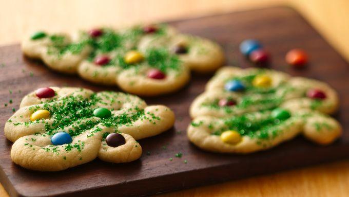 Swirly Christmas Tree Cookies