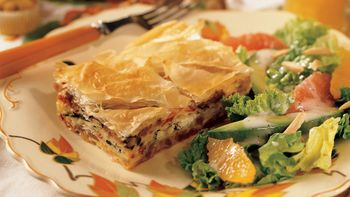 Spinach and Sausage Phyllo Bake