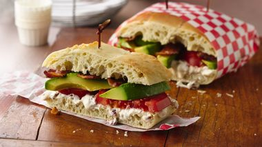 Bacon, Tomato and Avocado Sandwich with Chipotle Aioli