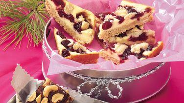 Cranberry-Oatmeal Cheesecake Bars