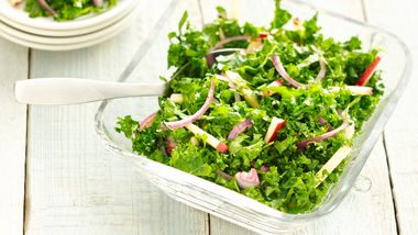 Gluten-Free Kale and Apple Slaw