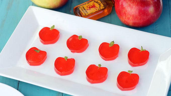 Candy Apple Jello Shots