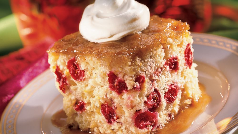 Quick Saucy Cranberry Cake