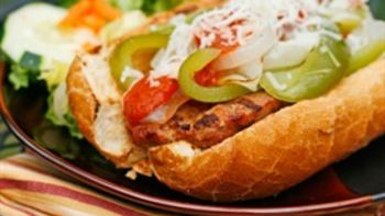 Grilled Turkey Sausage and Peppers