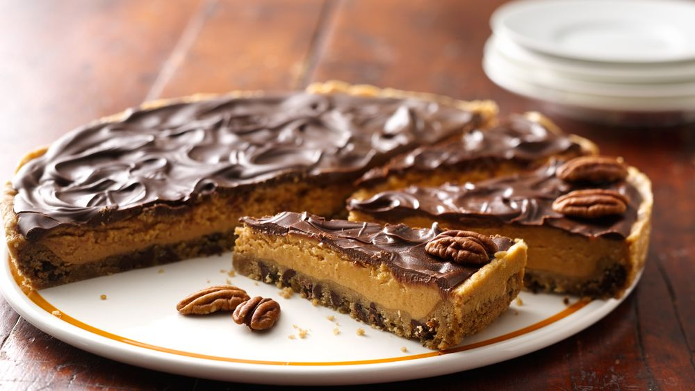 Chocolate-Peanut Butter Cookie Pie recipe from Pillsbury.com