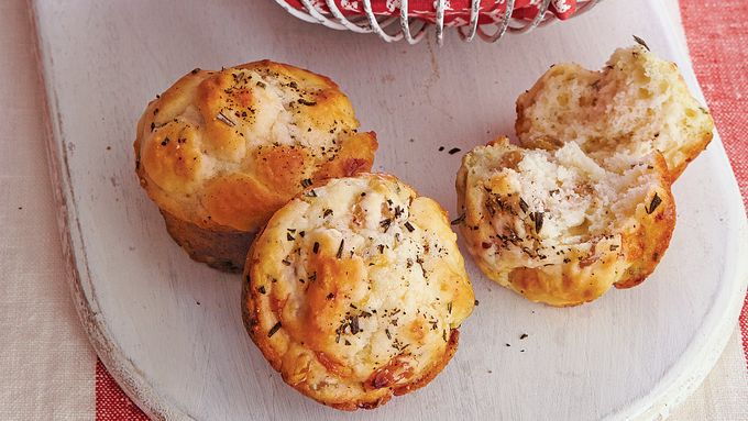 Rosemary and Golden Raisin Muffins