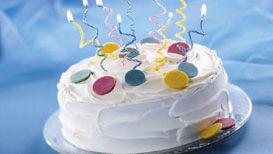 Spiral Candle Cake