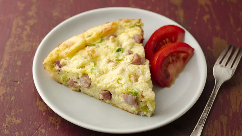 Impossibly Easy Ham and Swiss Pie