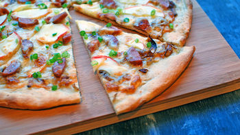 Apple and Chicken Sausage Pizza