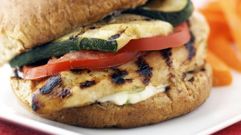 Skinny Grilled Chicken Sandwiches with Lime Dressing