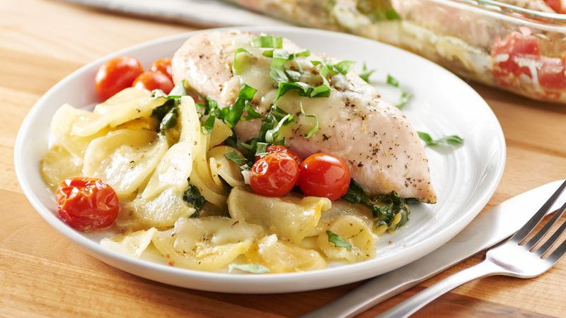 Easy Italian Chicken and Potato Bake