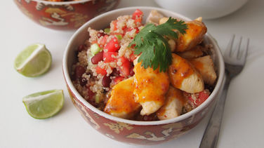 Chipotle Chicken Quinoa Bowls