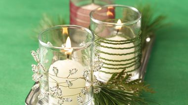Twinkling Beaded Votives
