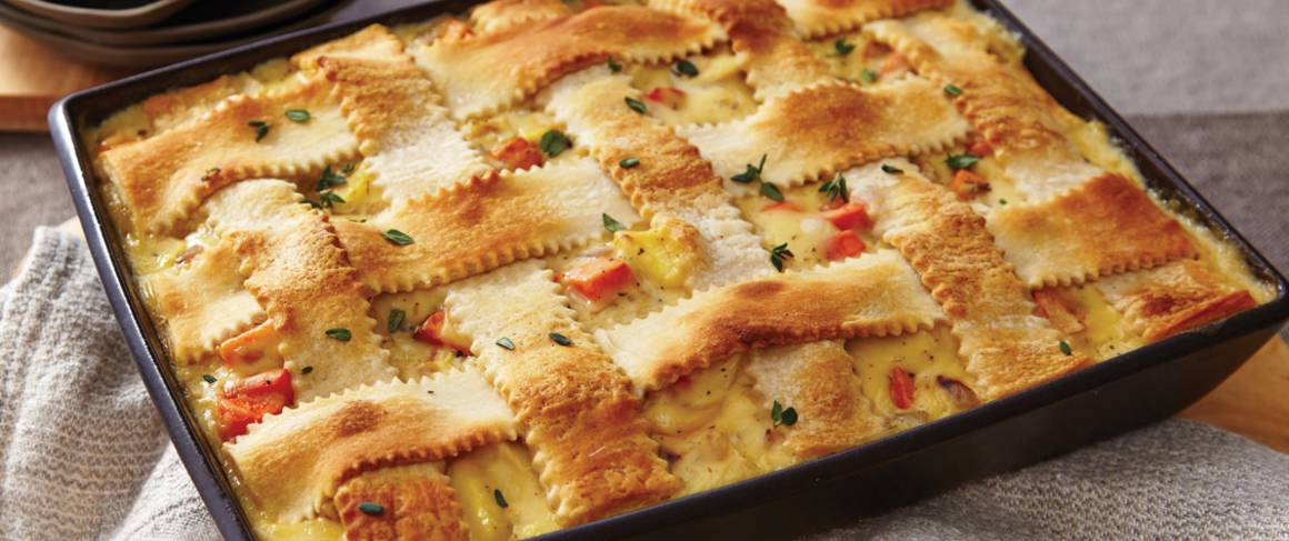 Turkey-Vegetable Pot Pie recipe from Betty Crocker