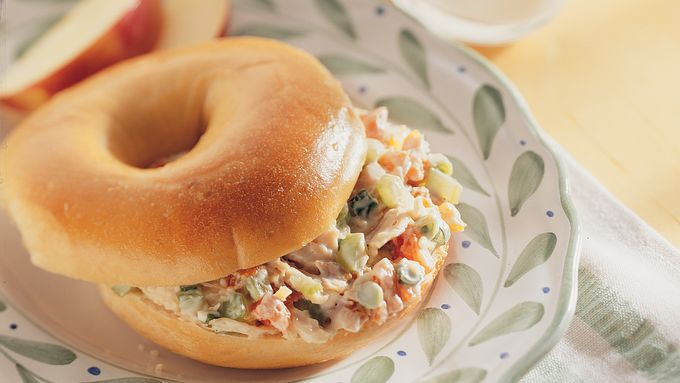 Chicken and Apricot Bagel Sandwiches
