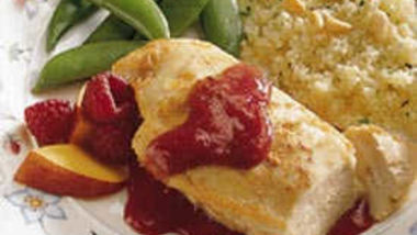 Grilled Raspberry-Peach Chicken