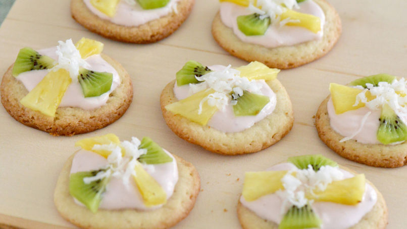 Tropical Fruit Mini Pizza Cookies
