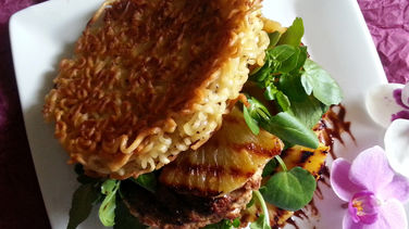 Ramen Chicken Burger