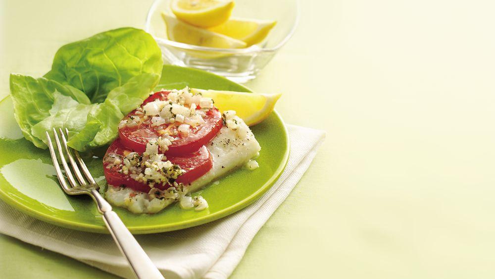 Lemony Fish and Tomatoes