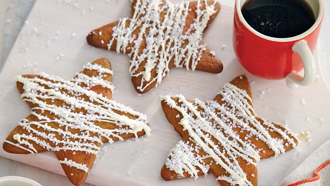 White Chocolate-Gingerbread Stars