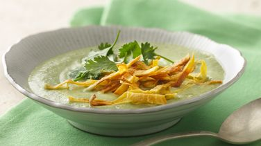 Cilantro Soup with Greek Yogurt
