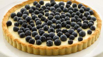 Skinny Blueberry-Lemon Tart