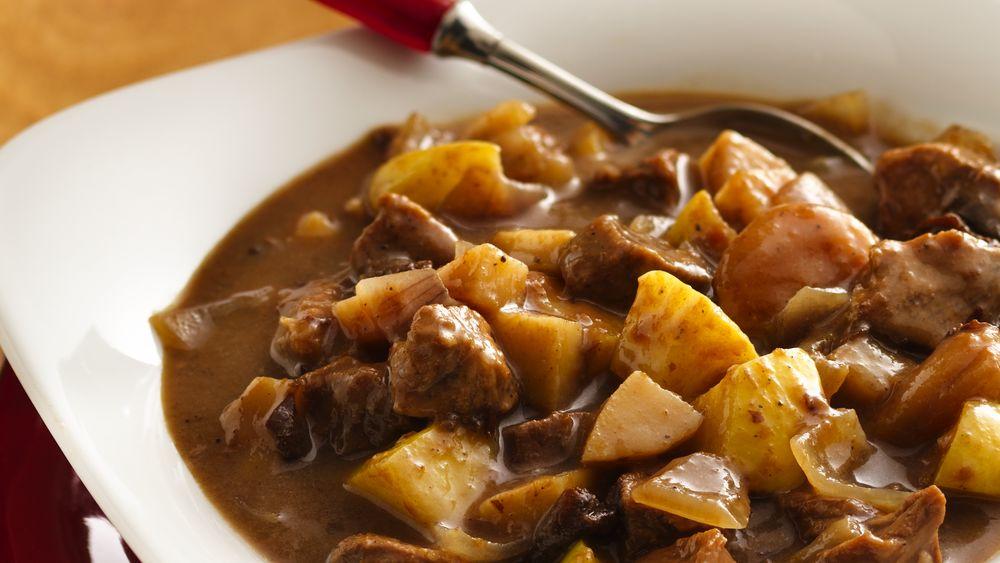 Slow-Cooker Harvest Pork Stew