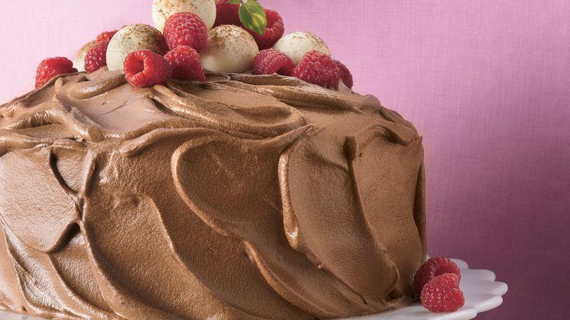 Chocolate Mousse-Raspberry Cake