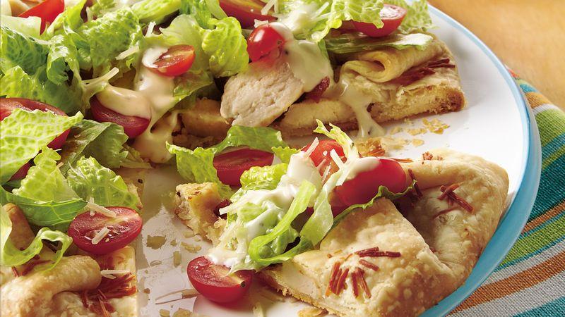 Chicken Caesar Club Salad Pie
