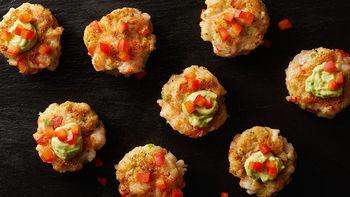 Shrimp Cakes with Avocado Crema