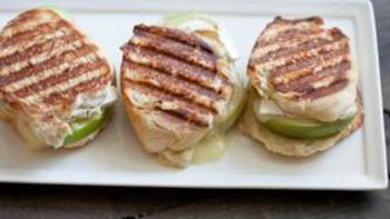 Grilled Onion, Apple and Brie Cheese Panini
