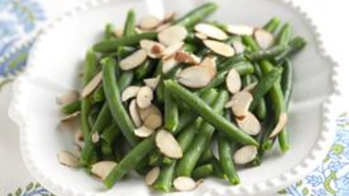 Buttered Green Beans with Almonds and Cranberries