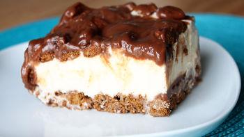 Cocoa Brownie-Ice Cream Dessert