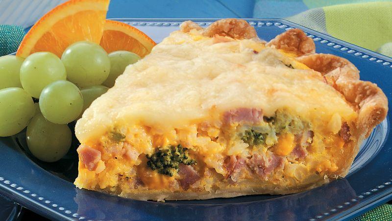 Ham, Broccoli and Rice Pie