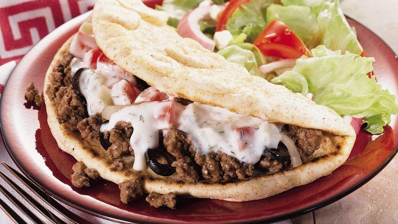 Beefy Greek Pita Folds