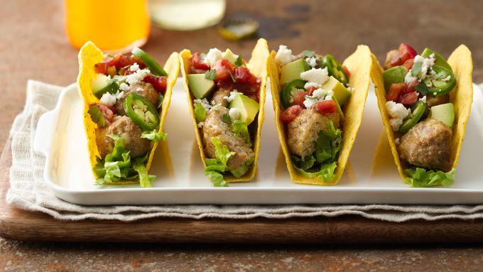 Turkey Meatball Tacos