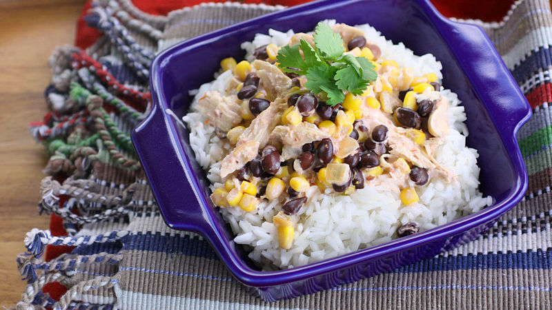 Slow-Cooker Fiesta Chicken recipe - from Tablespoon!