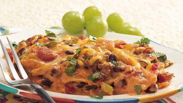 Overnight Mexican Tortilla Lasagna