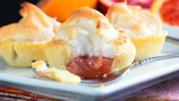 Mini Blood Orange Meringue Pies
