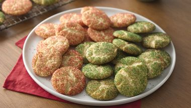 Christmas Snickerdoodles (Cookie Exchange Quantity)