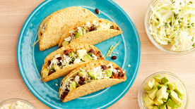 Chicken And Black Bean Spicy Tacos Recipe Bettycrocker Com