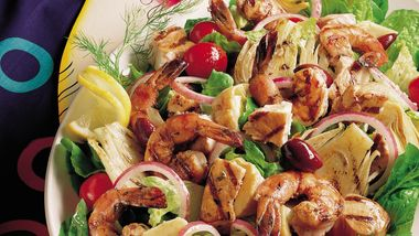 Grilled Mixed-Seafood Salad