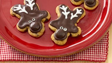 Chocolate Chip Reindeer Cookies