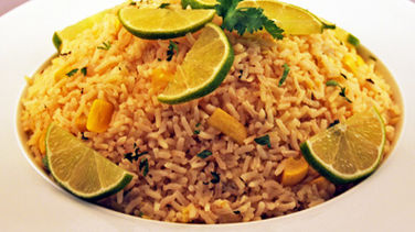 Rice with Yellow Squash, Cilantro and Lime