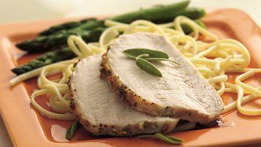 Grilled Garlic-Sage Pork Roast