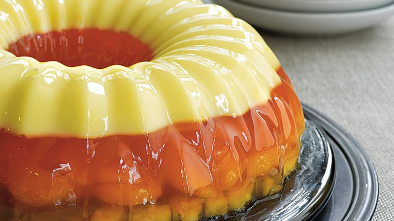 Candy Corn Gelatin Ring